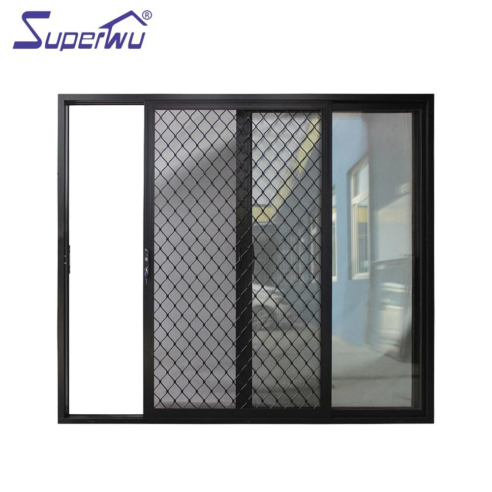 Large Aluminium Sliding Glass Door Grill Design For Residential