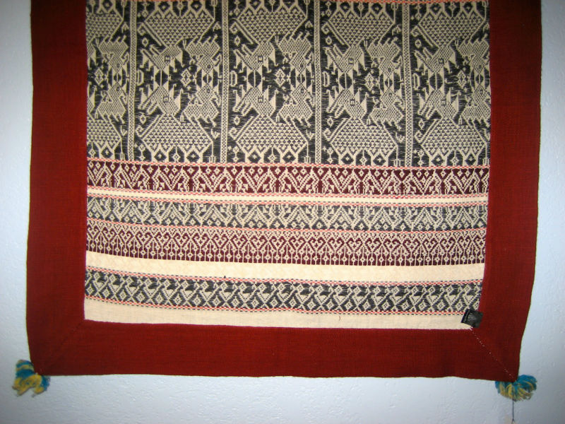Laotian Silk Blanket / Throw - Red