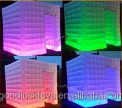 Inflatable Factory Directly Wonderful Cube led Inflatable Photo Booth Tent With Colors Changing