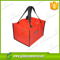 Non woven 2 bottle wine bag,printed promotional cheap custom nonwoven bag,non woven tote bag