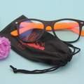 Promotional soft drawstring Microfiber Sunglasses Pouch
