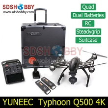 Yuneec Typhoon Q500 4K Camera Handheld Gimbal ST10 10ch 5.8G FPV Quadcopter Drone with Camera Double Battery and Original Case