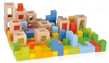 78pcs creative wooden blocks for children 3 years and up