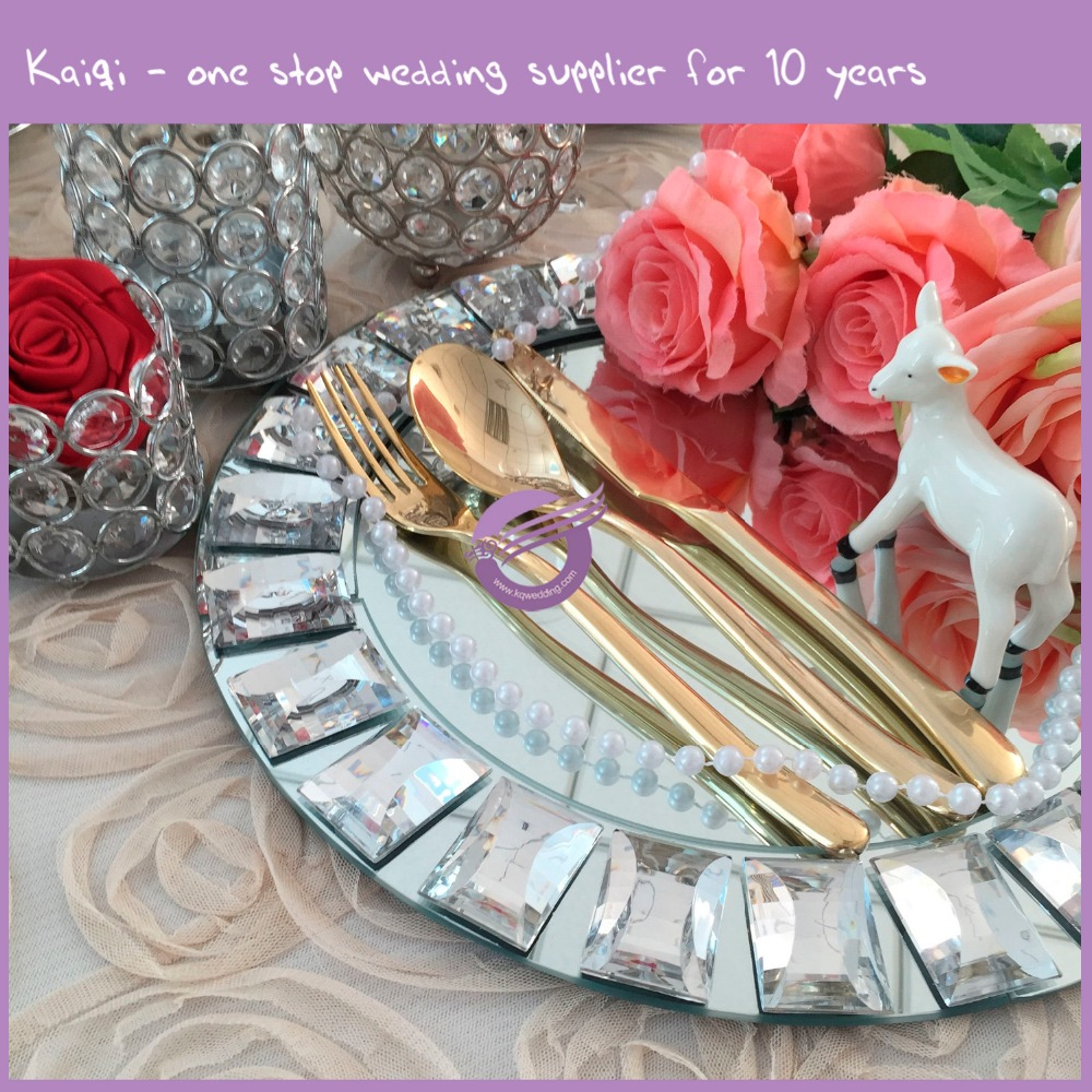 k7937 wedding cheap gold silver stainless steel flatware, wholesale cutlery