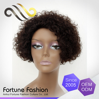 100 human hair wig makers short curly lace front wigs