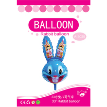 Hot selling blue color inflatable plastic giant rabbit cartoon balloons