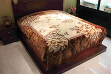 king and queen size fitted bedspread Brown Design blanket with Flower