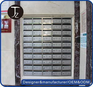 Casting Craftsman.Apartment stainless steel embedded chinese mailbox combination mailbox