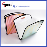 Office & School Stationery Custom Creative High Quality PP Wallet Folder File Bag Expanding Folder With Handle