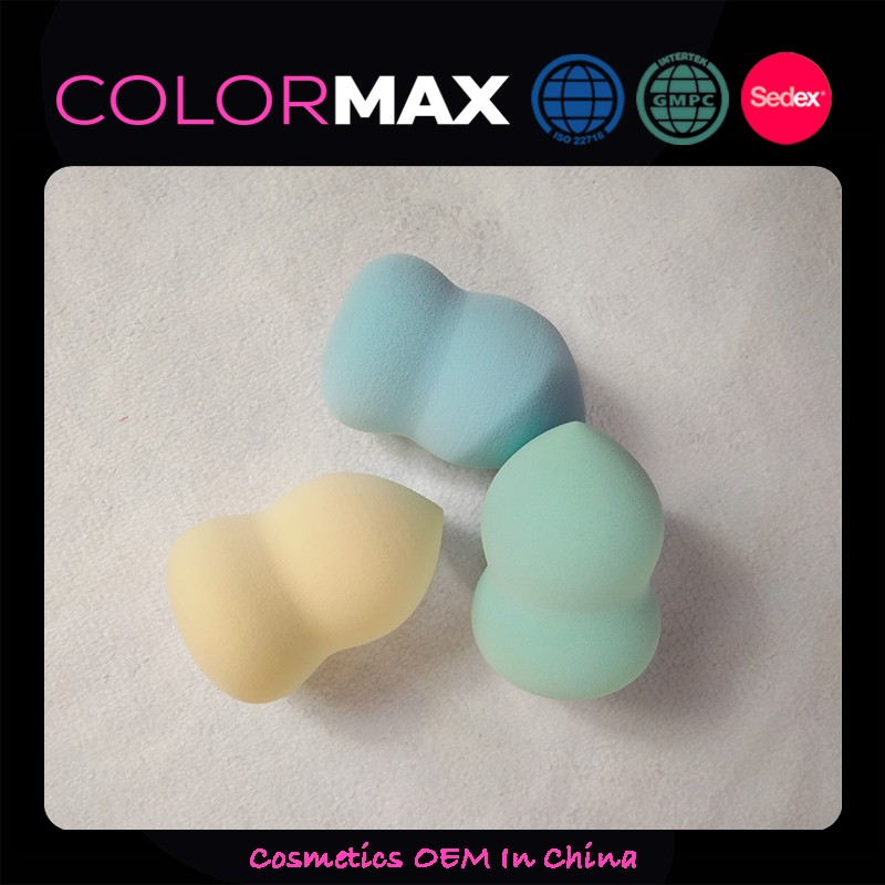 ColorMax Free Sample Beauty Sponge Blending Sponge Gourd Shape Makeup Sponge