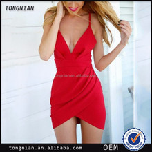 Sexy revealing mini evening red dress bandage transparent halters skirt ladies without dress
