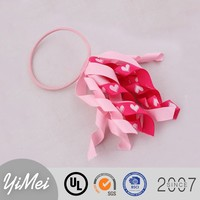 New Products for 2016 Hair Accessories ,Pink Hair Band With Curly Ribbon Tassels