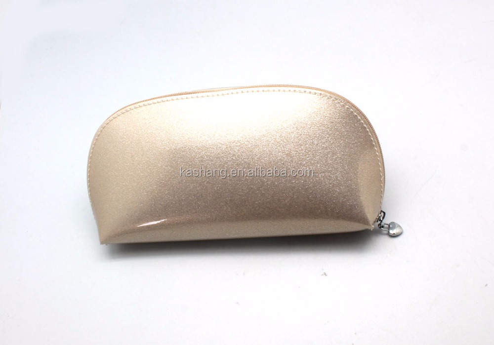 Pearl Light Plain Pu Shiny Cosmetic Bag