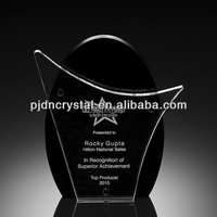 Exhilaration Crystal Award plaques