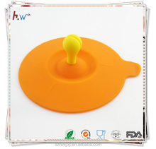 High temperature resistant silicone lid for teacup