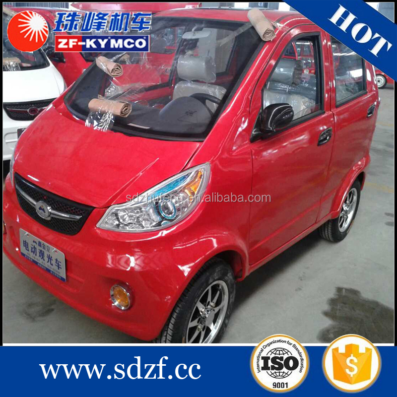 Right hand 4 wheels passenger solar electric one person cars