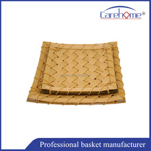 Factory wholesale polypropylene bamboo basket, PP rattan food basket