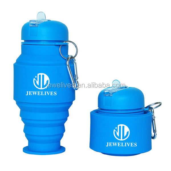2016 New promotion Foldable Collapsible silicone water bottle