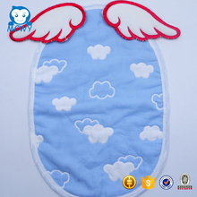 2017 100% cute cartoon design soft muslin baby cotton sweat towel