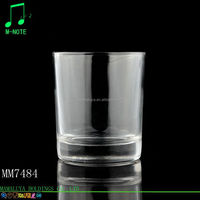 220ml chinese factory supply clear popular wholesale short glass mason candle holder