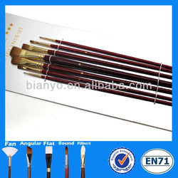 Top quality artist paint brush,animal hair paint brush,weasel hair artist brushes,best watercolor brushes