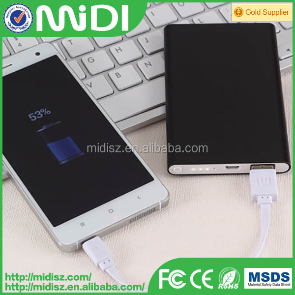6000mah aluminium ultra slim portable power bank for iPhone andriod mobile