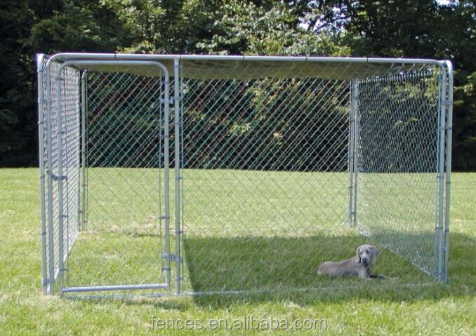 Large Pet Enclosure Dog kennel Run Animal cage chain link and welded type