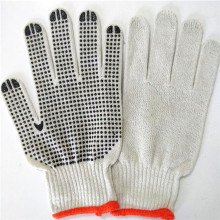 pvc dotted cheap safety work gloves cotton knitted white gloves cotton string knit gloves with CE