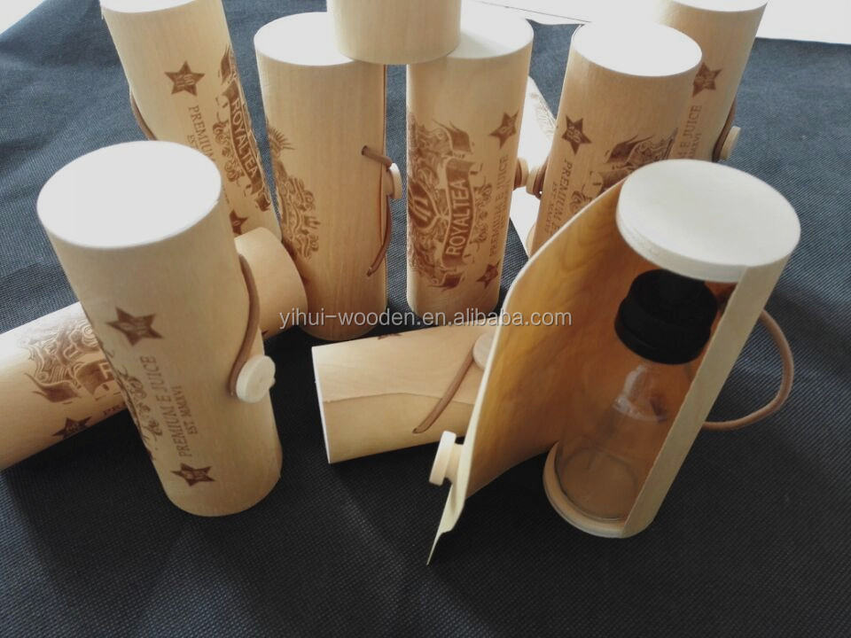Birch Venner Single Bottle Cylinder wooden essential oil box