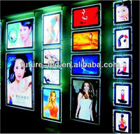 Wire Steel Hanging Super Bright Led Slim Light Box