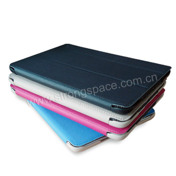 Lichee PU Leather For iPad Mini Folio Case