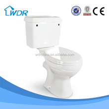 Economic hot sale products two piece wc school toilet prices