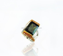 Elegant Nioce beautiful Custom Unique Gold Plated Gem Rings For Men