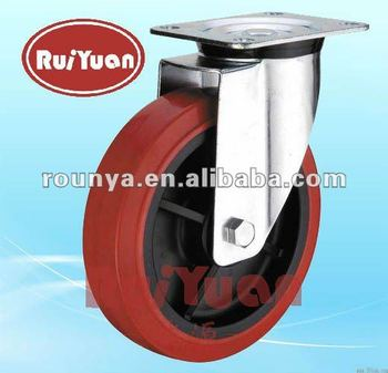 European type high load polyurethane swivel industrial casters