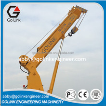 0-50t marine telescopic arm boat lifting crane knucle boom crane for deck port barge