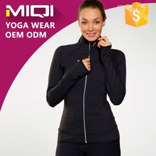 Custom made Nylon/Spandex breathable running wear women plus size jackets