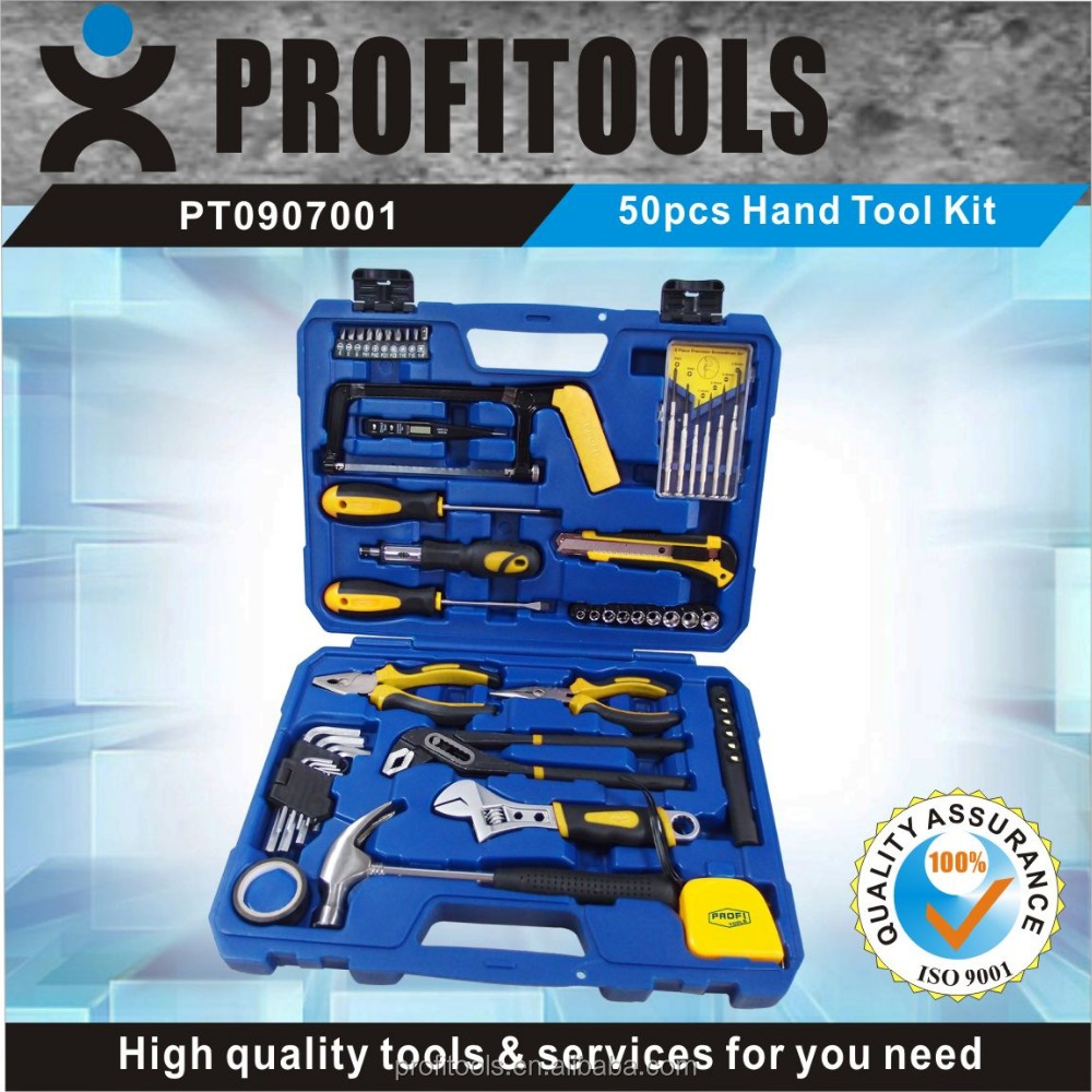 50pcs different types of hand tools set for mechanics