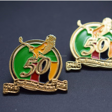 Custom made promotional gold eagle wing pin no MOQ metal badges