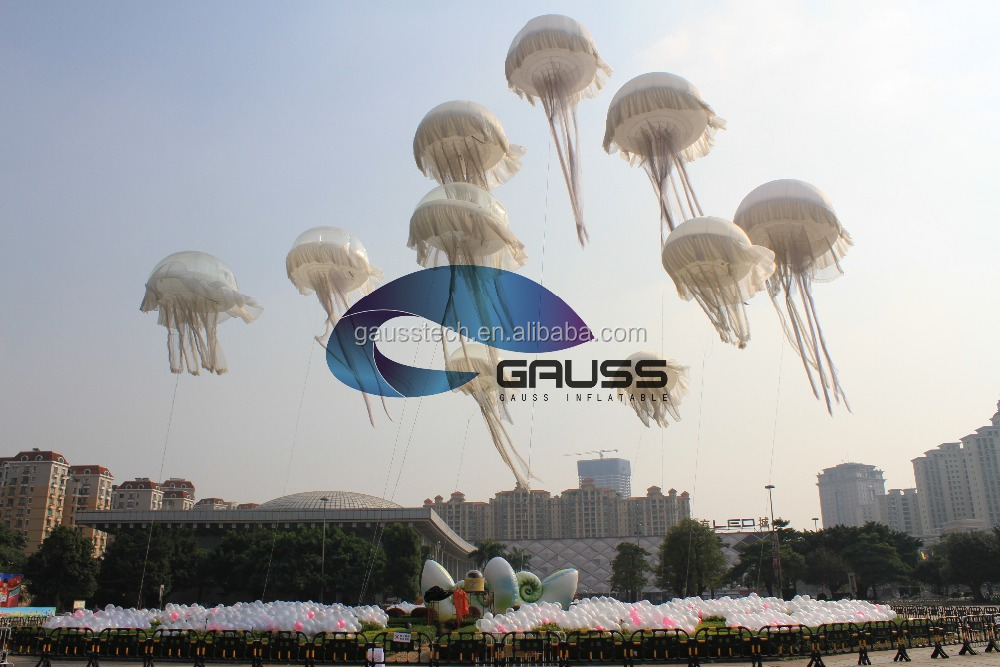 2017 new arrival inflatable advertising LED jellyfish