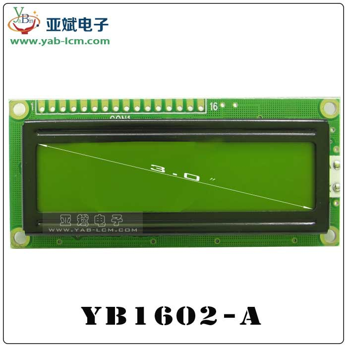 Small Size LCD Liquid Crystal Display (yb1602A)