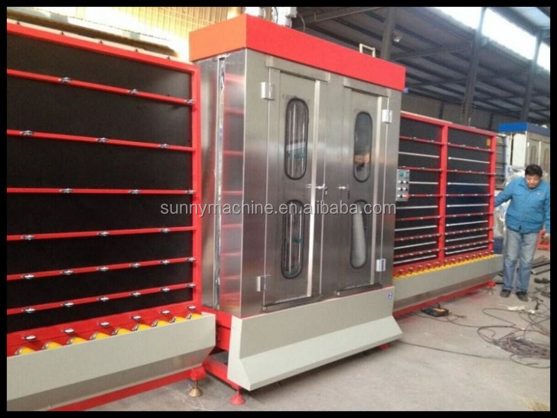 Top open low-e glass washing and drying machine/insulating glass washing and drying equipment