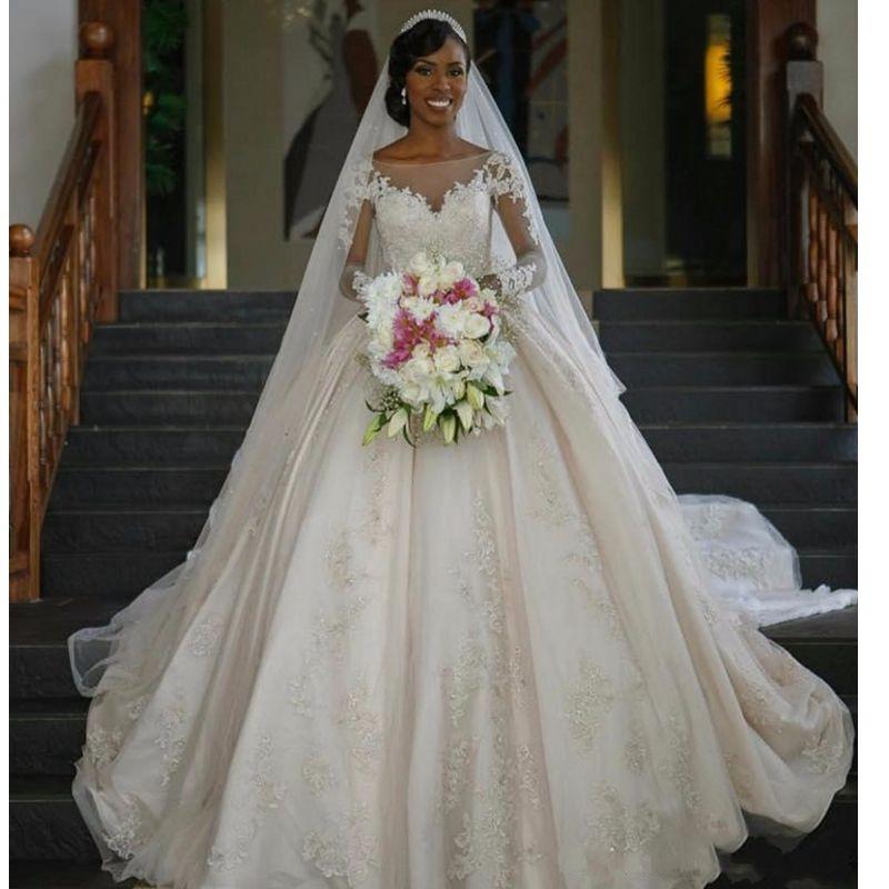 Fa80 Wedding Dresses Vintage Long Sleeve Lace Wedding Dresses ...