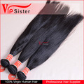 Straight 100% unprocessed alibaba virgin indian hair for Black woman
