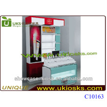 2014 mall cosmetic kiosk,design perfume cosmetic kiosk,cosmetics display design kiosk