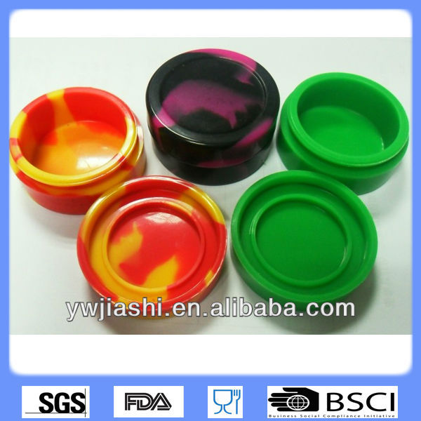 silicone storage container jar, smoke box for sticky wax product container storage,oil silicone container