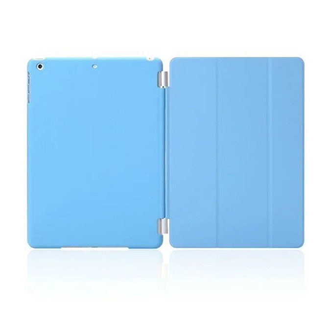 For ipad mini case factory wholesale 50Pcs PU Leather front Smart Cover+ 50pcs Matte Hard Back Case For IPAD Mini 1 2 3