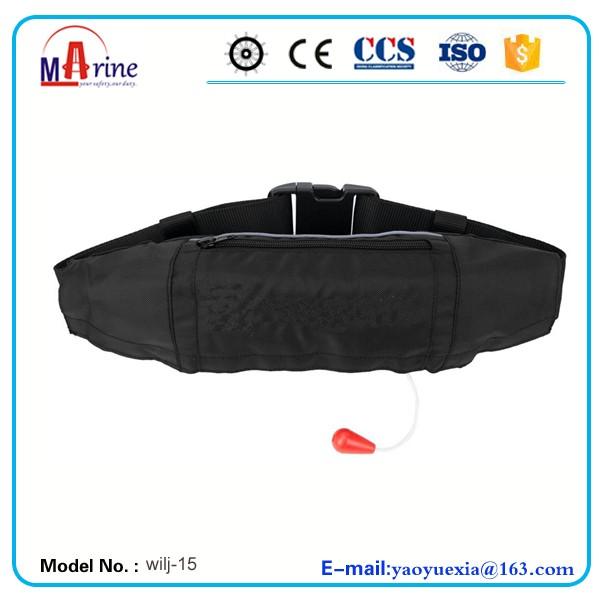 Best sale black color inflatable life belt pfd pack buy for Sc fishing license age