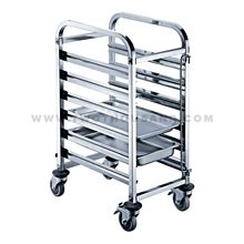 TT-SP279B 6 Layers GN2/1 Commercial Stainless Steel GN Pan Rack Trolley