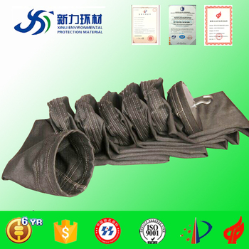 factory supply high temperature fiberglass dust filter sleeve for silicon iron plant