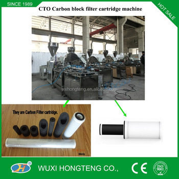 2016 CTO Active Carbon Block Filter Cartridge Making Machine from China